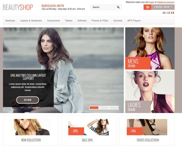 10 excellent OpenCart themes for your store